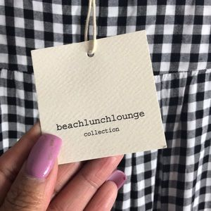 beachlunchlounge Dresses - Beachlunchlounge-Gianna Gingham Bell Sleeve In SP